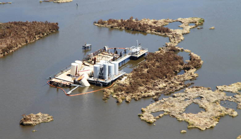 L'industrie enfin nous prive de nos marais. / Industry is now taking away our marshes.